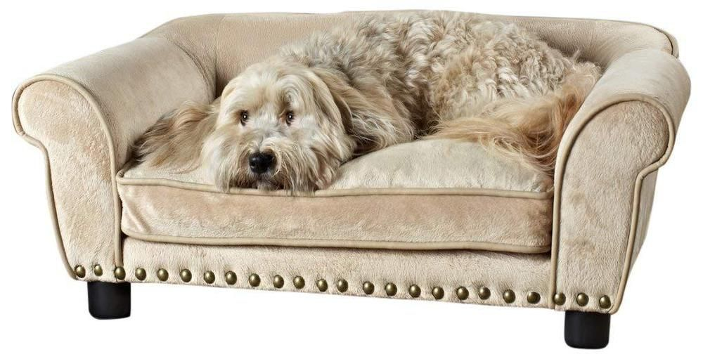 Ultra Plus Pet Medium Dog Sofa Up To 30 Lbs Removable Cushion Cover Toy Storage Enchantedhomepet With Images Dog Bed Luxury Pet Sofa Bed Dog Sofa Bed