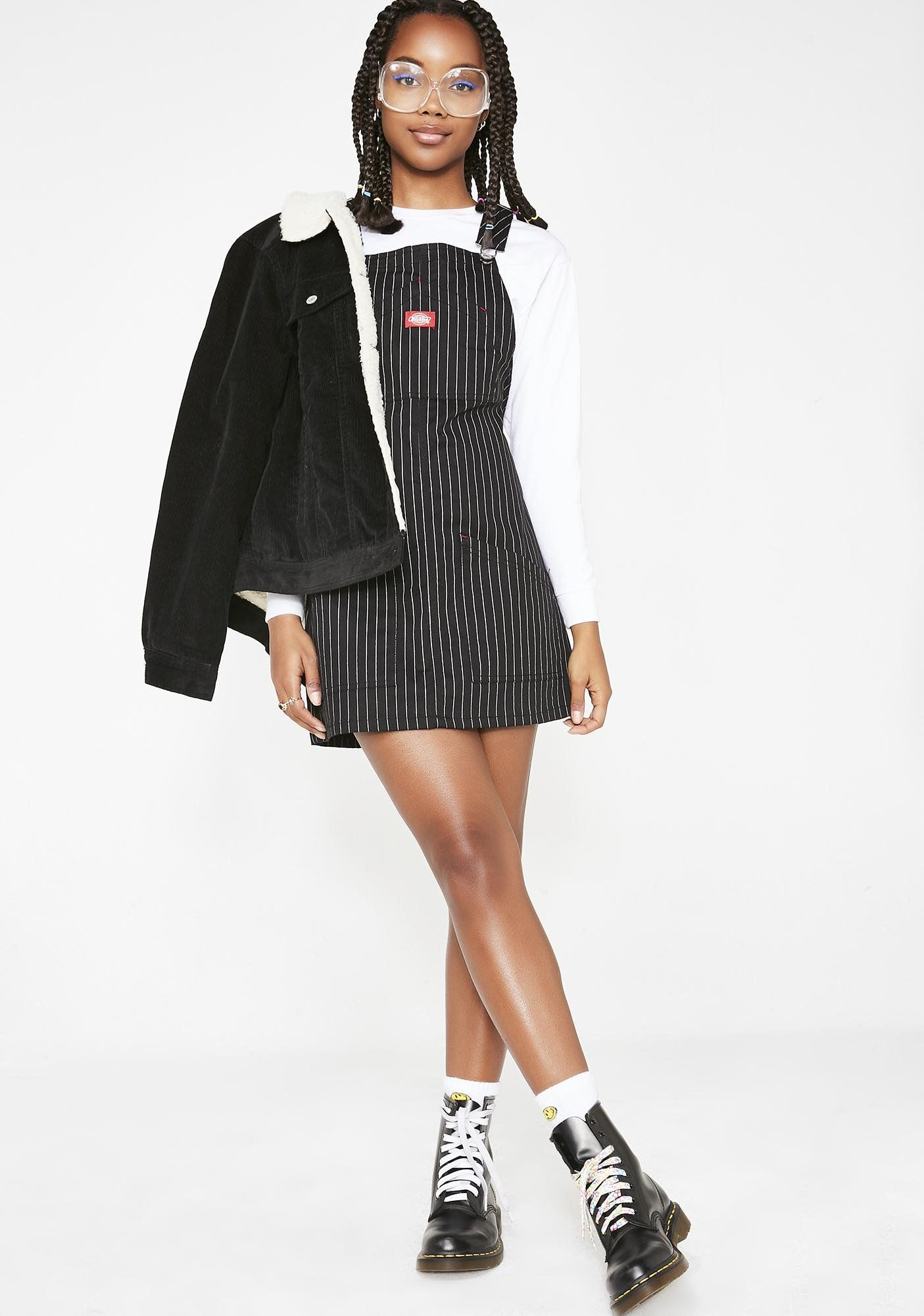 a7be226b0e Dickies Girl Pinstripe Overall Dress