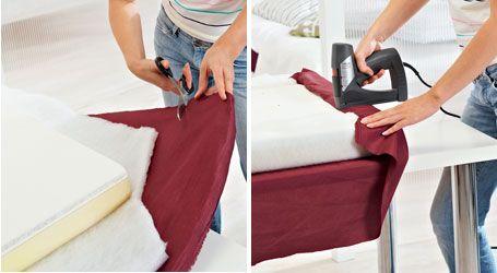 bastelanleitung kopfteil f r das bett wohnen garten diy holzbett cama de madera. Black Bedroom Furniture Sets. Home Design Ideas