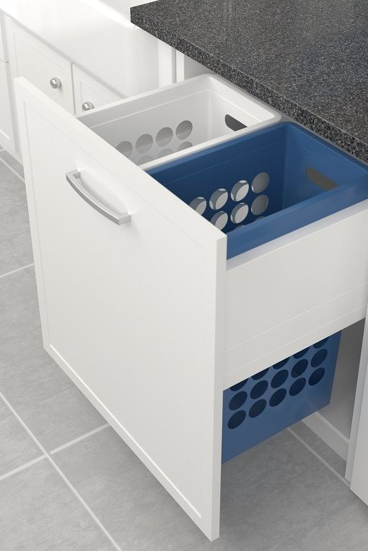 Tanova Deluxe Pull Out Laundry Basket System For 600mm