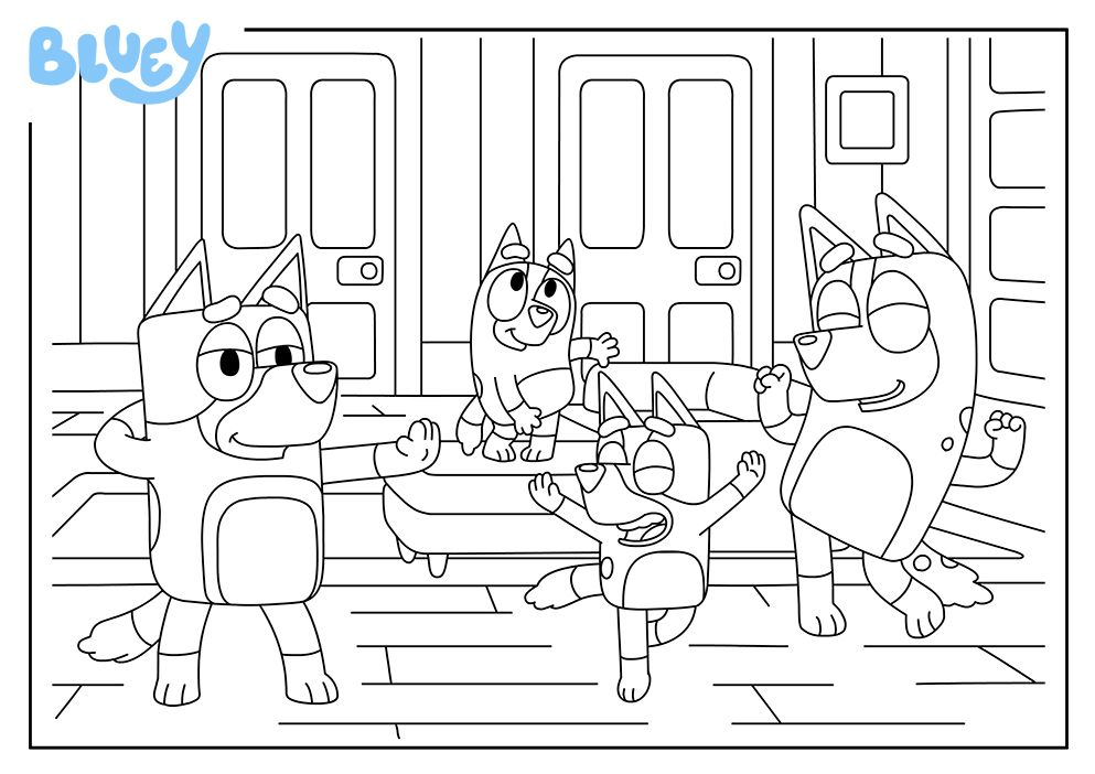 Print Your Own Colouring Sheet Of Bluey S Lounge Kids Colouring Printables Free Halloween Coloring Pages Coloring Sheets