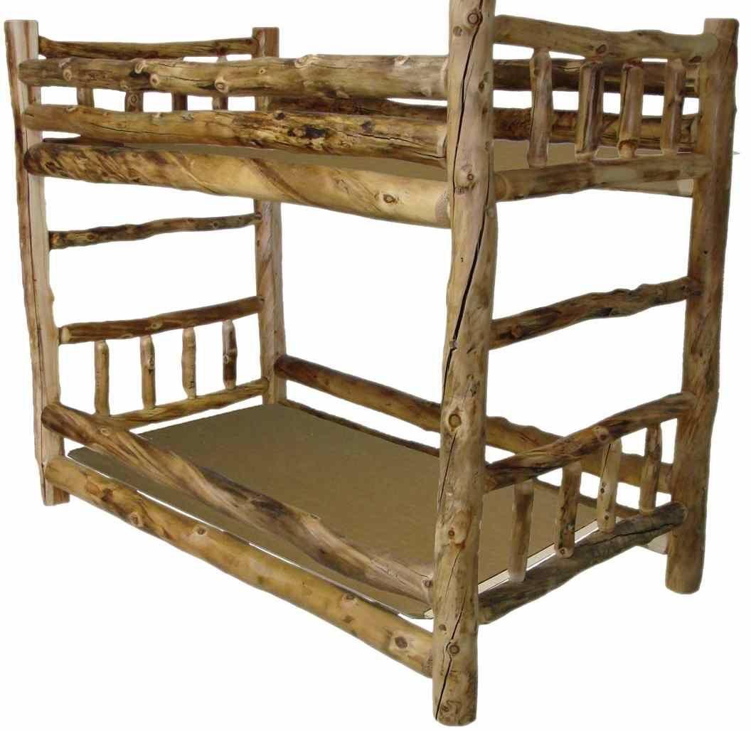 Aspen Log Twin Over Twin Bunk Bed Mebel Iz Poddonov Mebel
