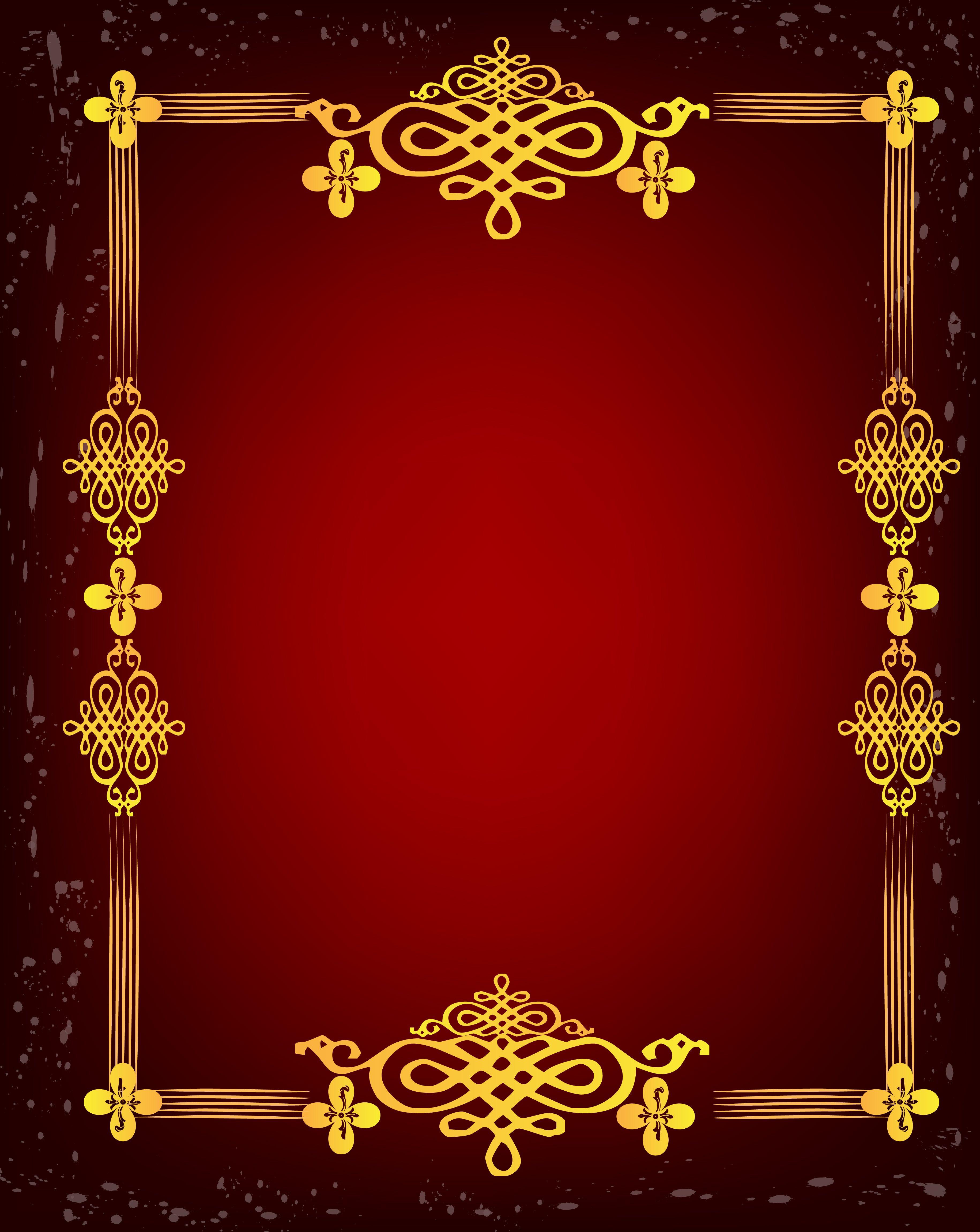 Grafite De Quadro Branco Padrao Ouro Vetor Sobre Fundo Vermelho Criativo In 2020 Banner Background Images Frame Border Design Wedding Background Images