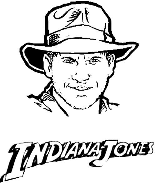 Coloring Indiana Jones Pages Printable 2020 With Images