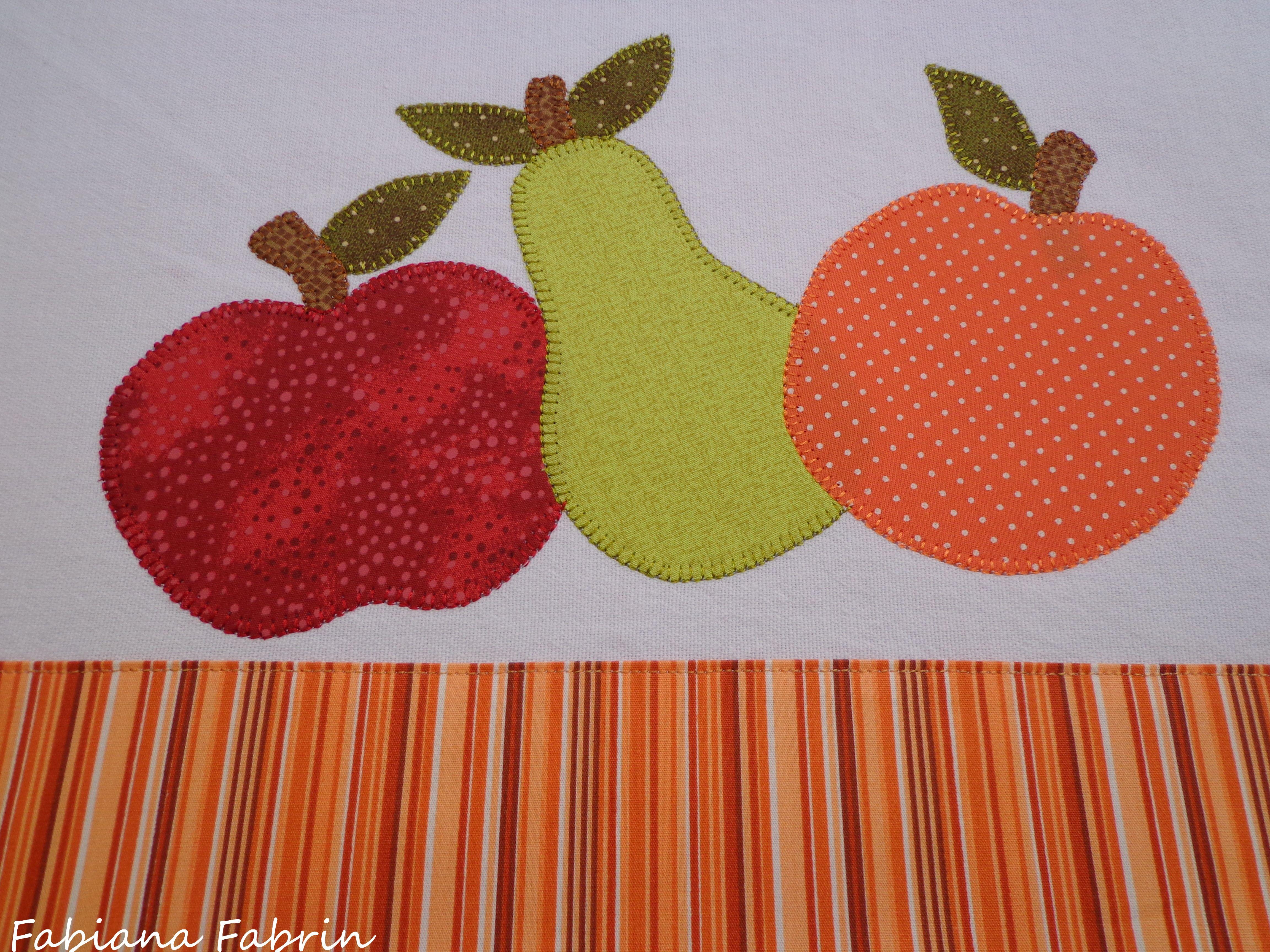 Pano de prato frutas - Patchaplique By Fabiana Fabrin | Pano de ...