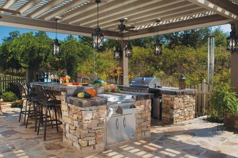 Fotos de jardines r sticos cocina pergola patios - Ideas para jardines rusticos ...