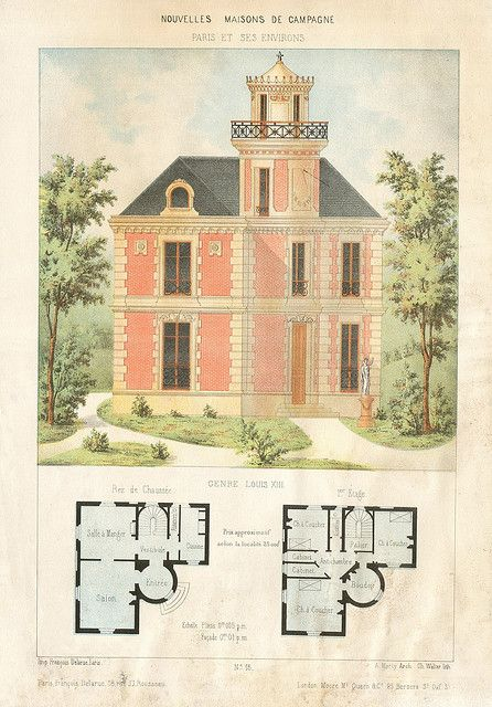 maison campagne House, Vintage house plans and Architecture