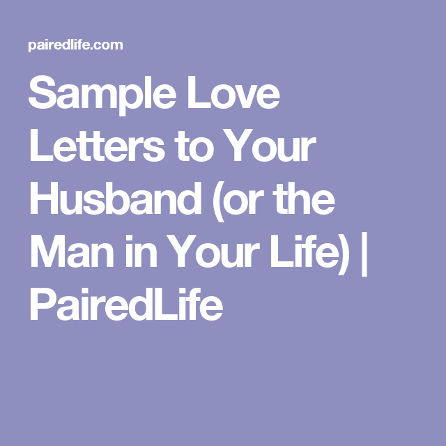 Sample love letter to a man