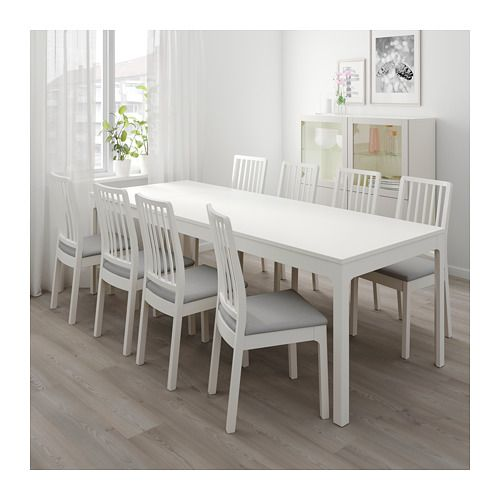 Ekedalen Extendable Table White 70 7 8 94 1 2x35 3 8 Small Room Design Small Kitchen Tables Living Room Designs