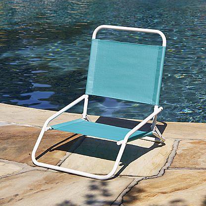 Low Back Beach Chair Blue Folding Beach Chair Camping Chairs