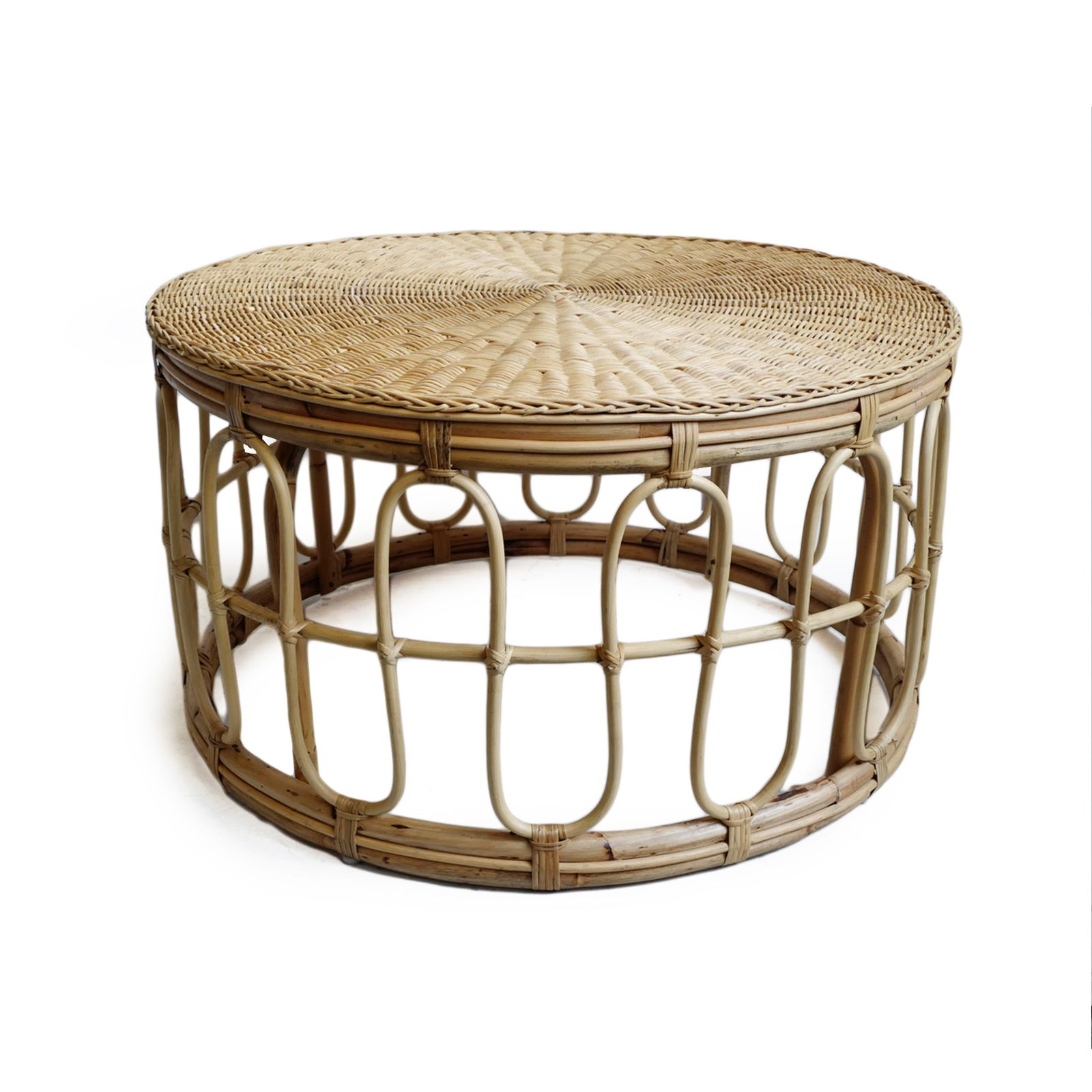 Round Rattan Coffee Table In 2020 Rattan Coffee Table Wicker