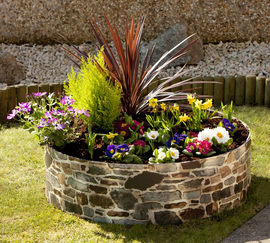 Image result for raised garden beds flowers circular