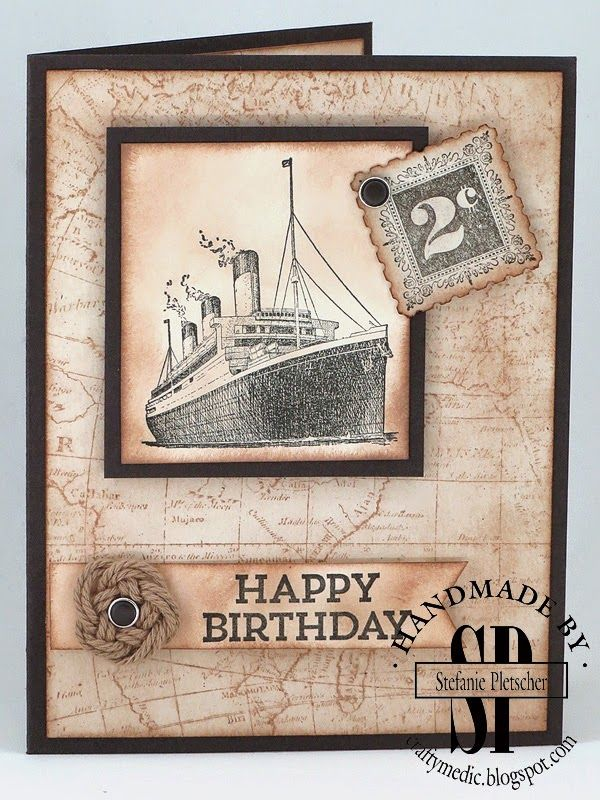 The Crafty Medic: Show Offs - Stampin' Up! Traveller, Hey You, Postage Paid, and World Map stamp sets.