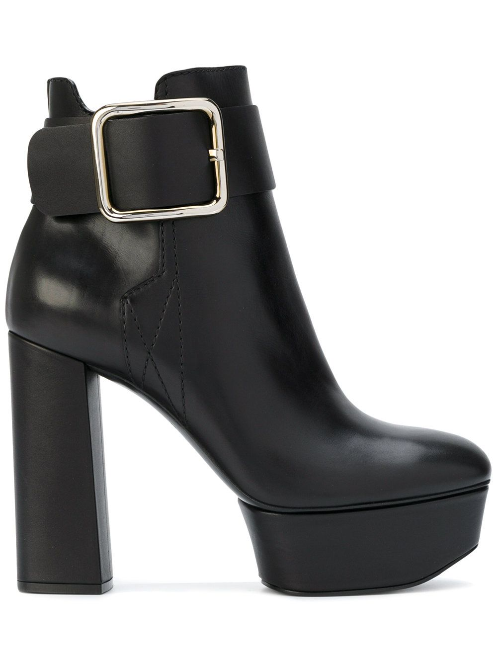 Casadei Leather Platform Boots