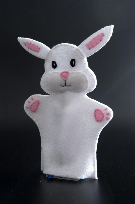 Bunny hand puppet - hand puppets, hand puppet, animal puppet, glove puppet -