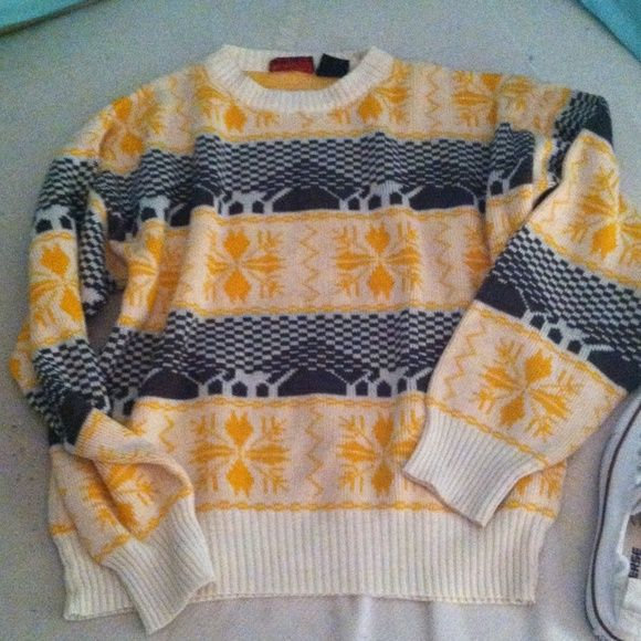 Patterned Sweater Thrift Cosby style sweater! Tops
