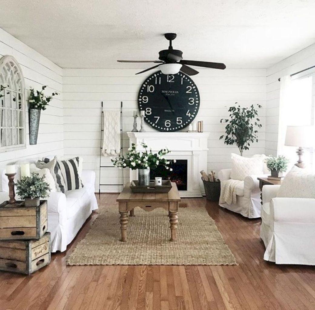 50 Awesome Rustic Farmhouse Living Room Decor Ideas | LIVING ROOM ...