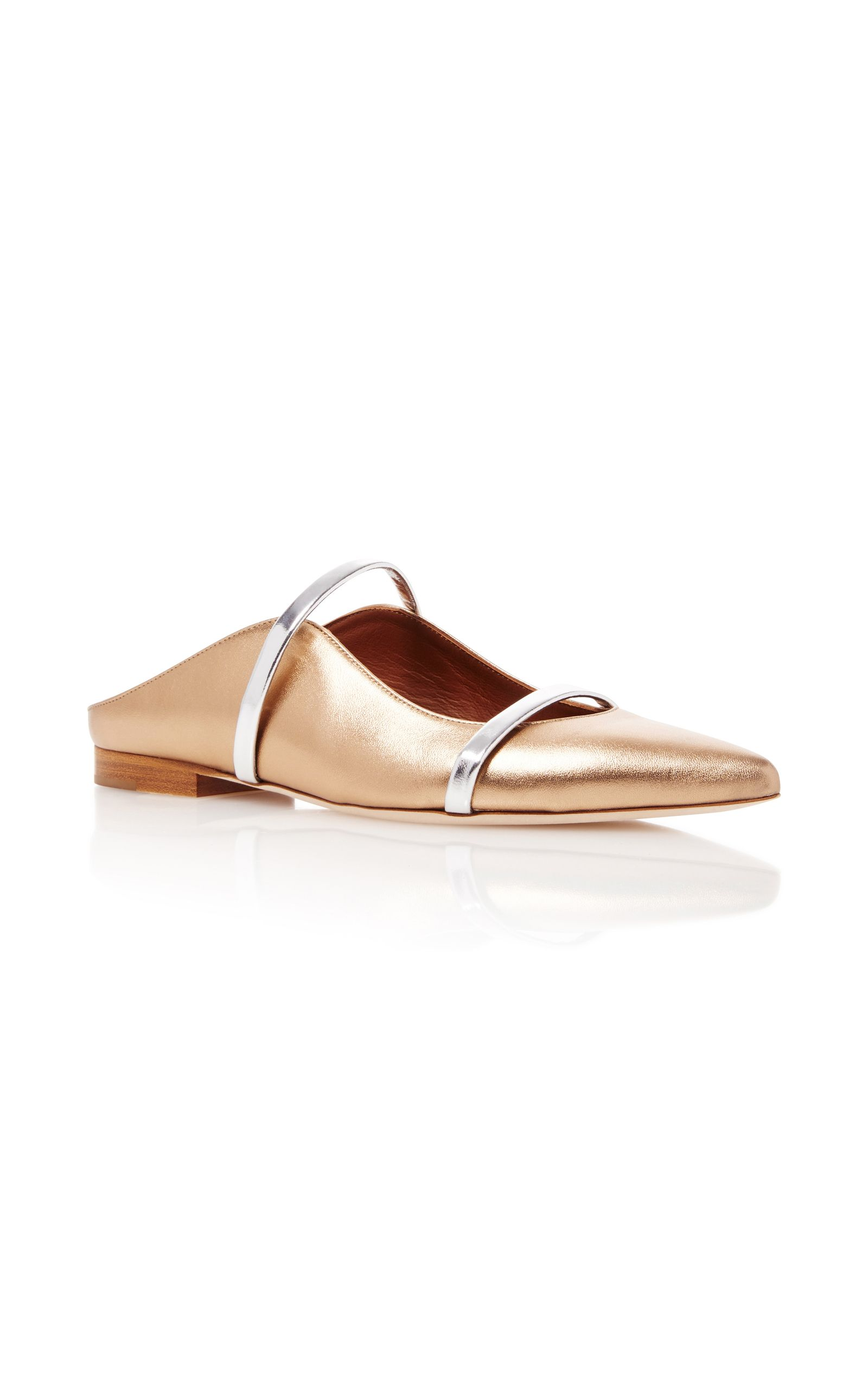 popular sale online many kinds of sale online Malone Souliers Maureen metallic leather slippers buy for sale aeBYTGG