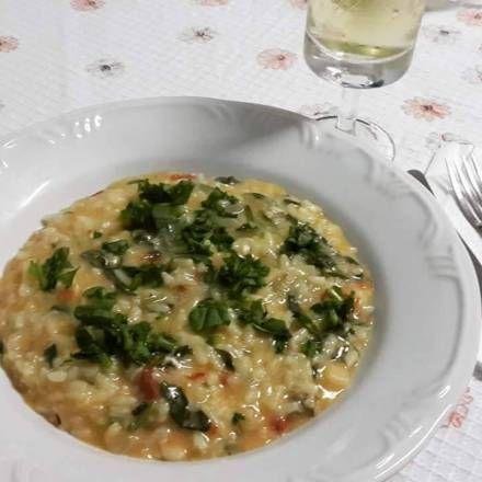 Receita Da Selene Risoto De Rucula Com Tomate Seco E Mussarela De