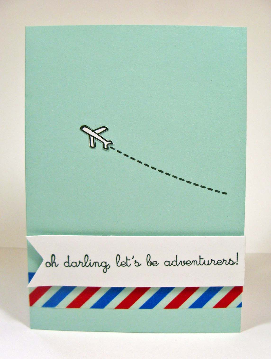 easy card making -let's be adventurers