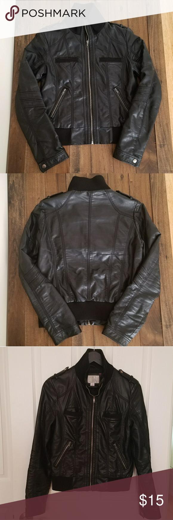 Xhilaration Faux Leather Jacket Black Faux Leather Moto Jacket Faux Leather Moto Jacket Jackets [ 1740 x 580 Pixel ]