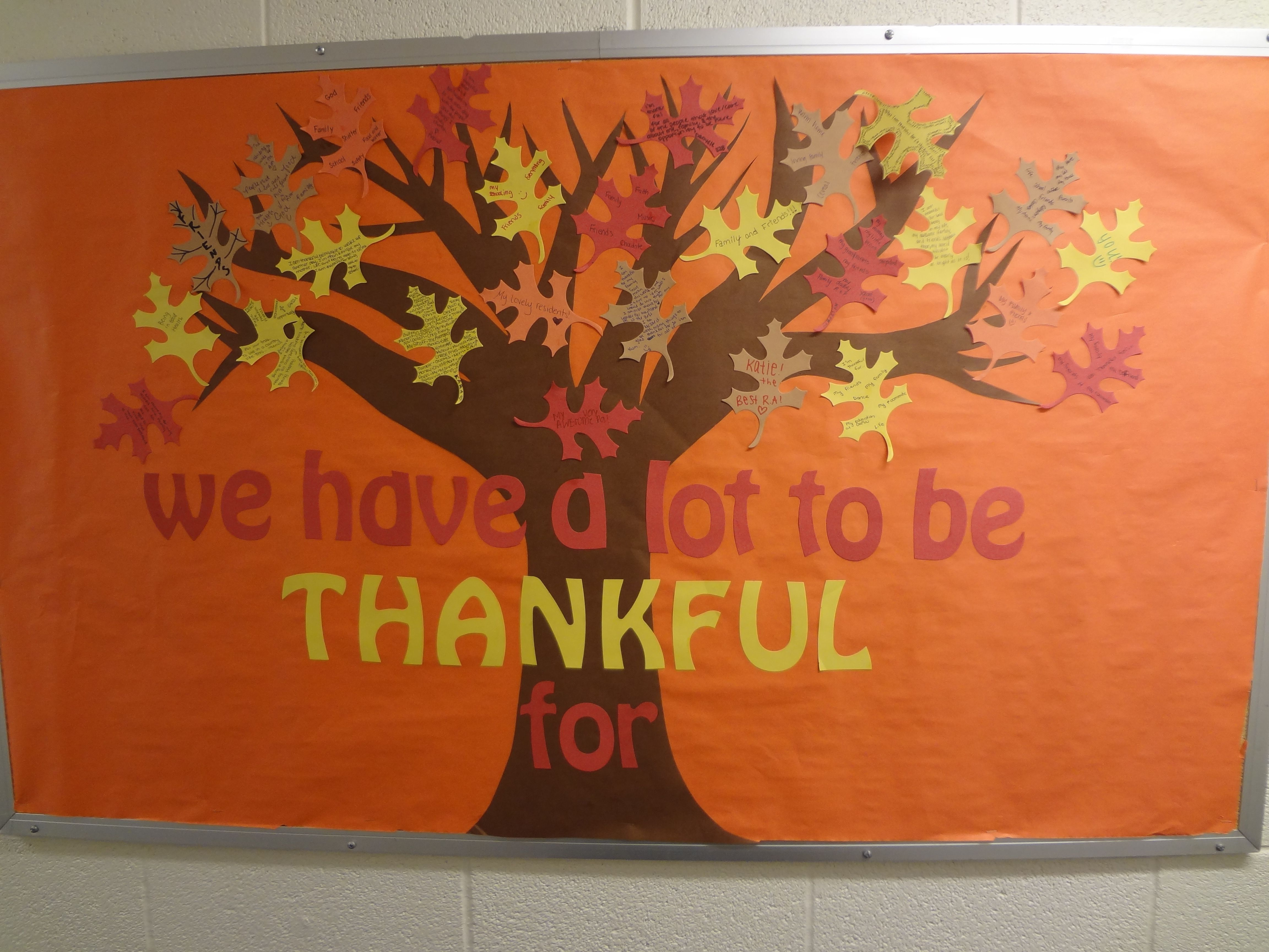 Thankful Tree Bulletin Board