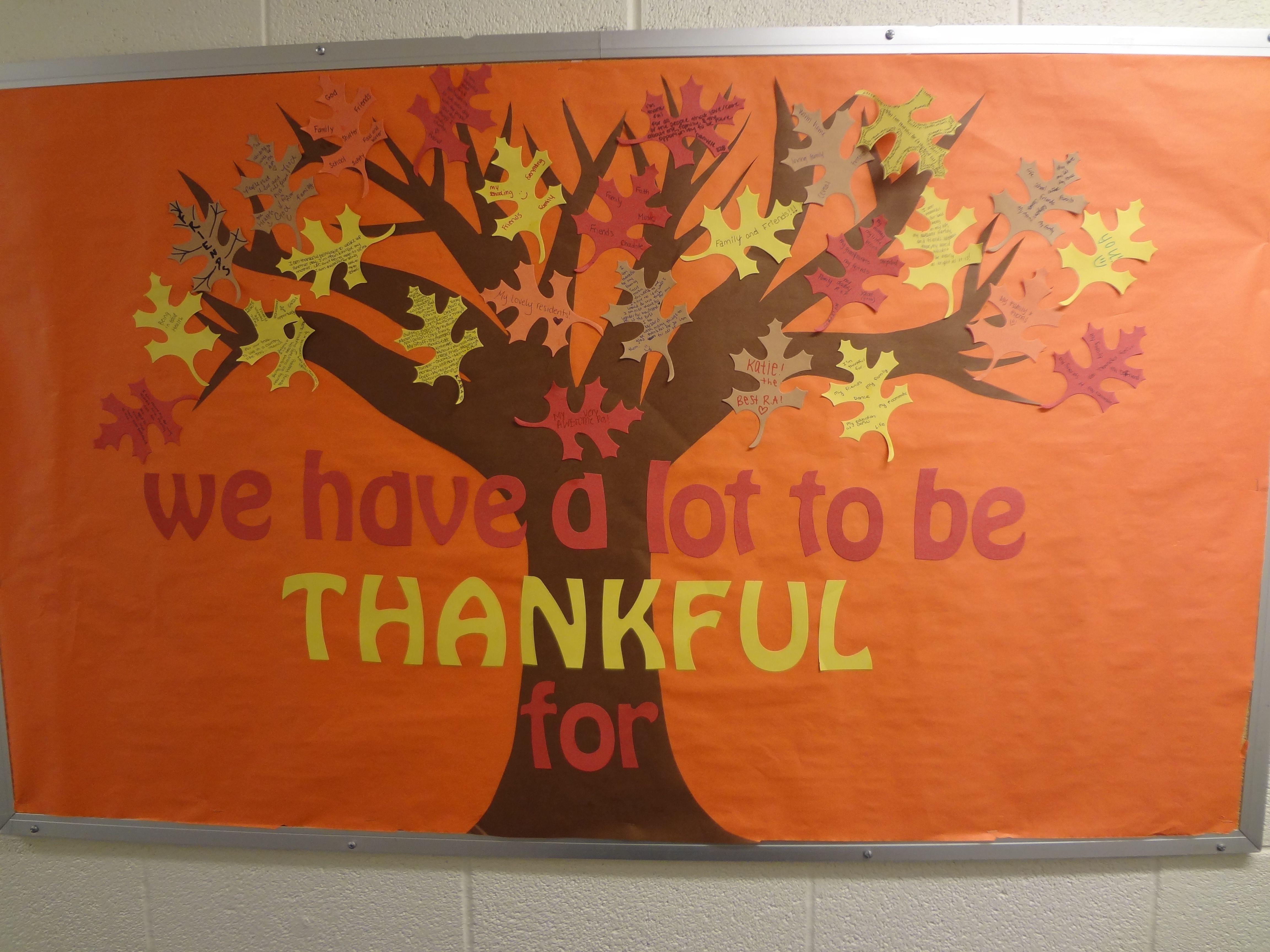 November Calendar Bulletin Board Ideas : Thankful tree bulletin board tattoos design gallery