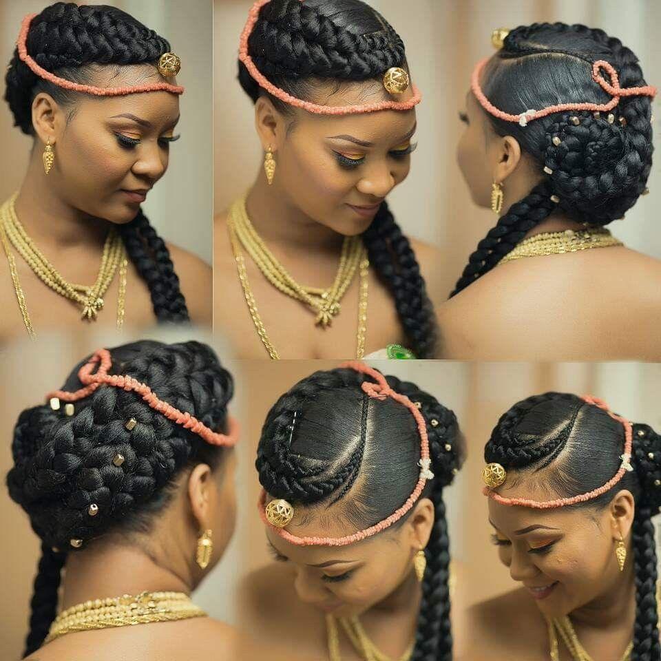 Coiffure Mariage Coutumier Gabon Gabonese Wedding Hairstyle Traditionnal African Wedding Hair Coiffure De Mariage Chignon Cheveux Afro Mariage Coiffure Mariage