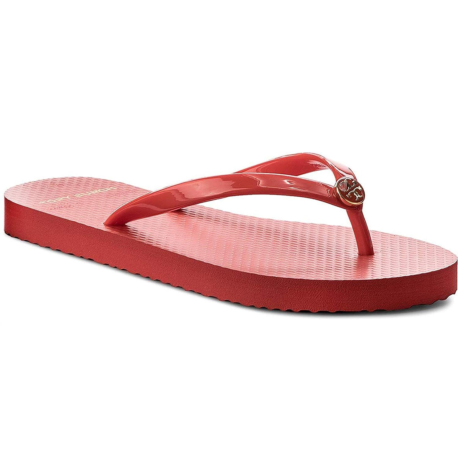 e91b234fb56e7b Tory Burch Solid Thin Flip Flop Sandals in Poppy Orange Size 8     Very  kind of you to have dropped by to view our image. (This is an affiliate  link)   ...