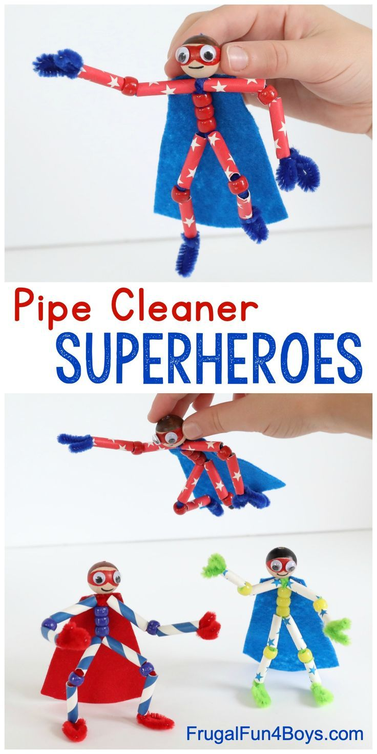 How to Make Pipe Cleaner Superheroes - Awesome superhero craft for kids!!