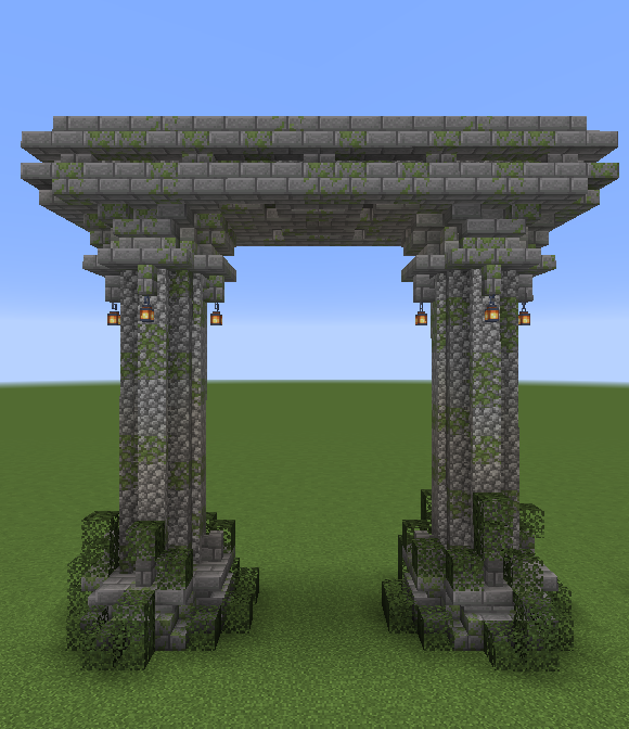 Made This Small Arch While Messing Around With Some Of 1 14 S New Blocks Textures I Love This Upd Minecraft Construction Minecraft Houses Minecraft Structures