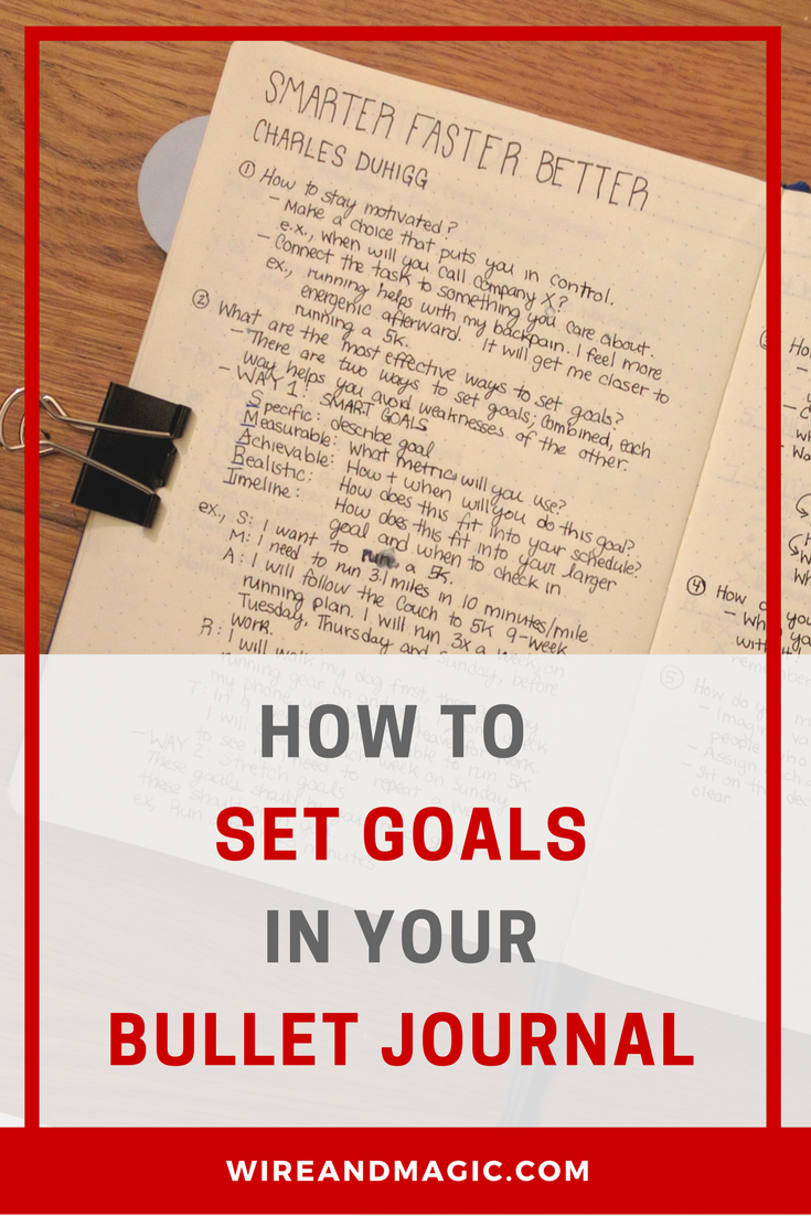 How To Set Goals In Your Bullet Journal Charles Duhigg S