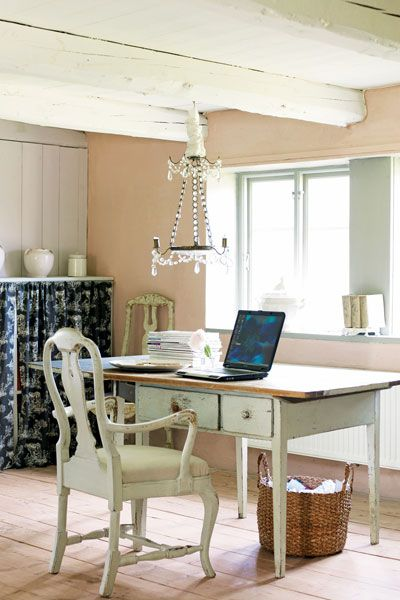 High Quality If You Need Inspiration For Your Home Office, Why Not Consider French Style  Vintage Furniture And A Delicate Teardrop Chandelier Such As The One  Pictured ...
