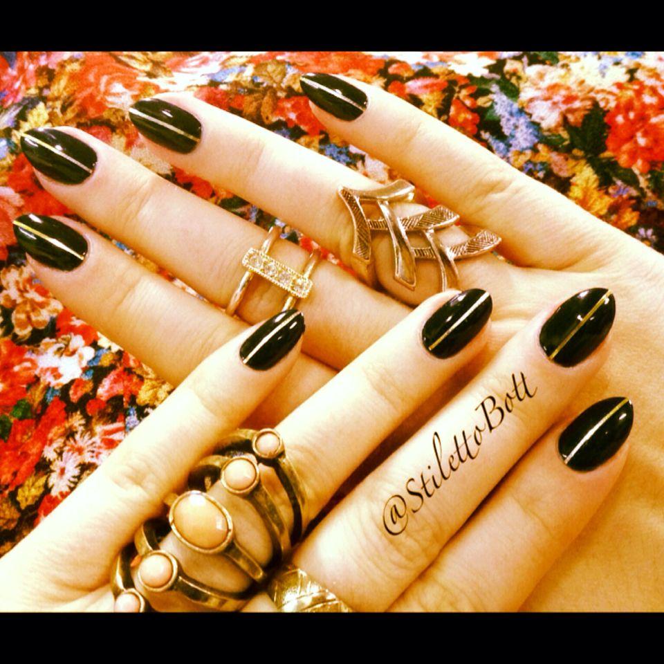 Metallic Stripes Nail art, Nails, Metal