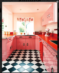 Source Antiques on Twitter | Red kitchen decor, Pink ...