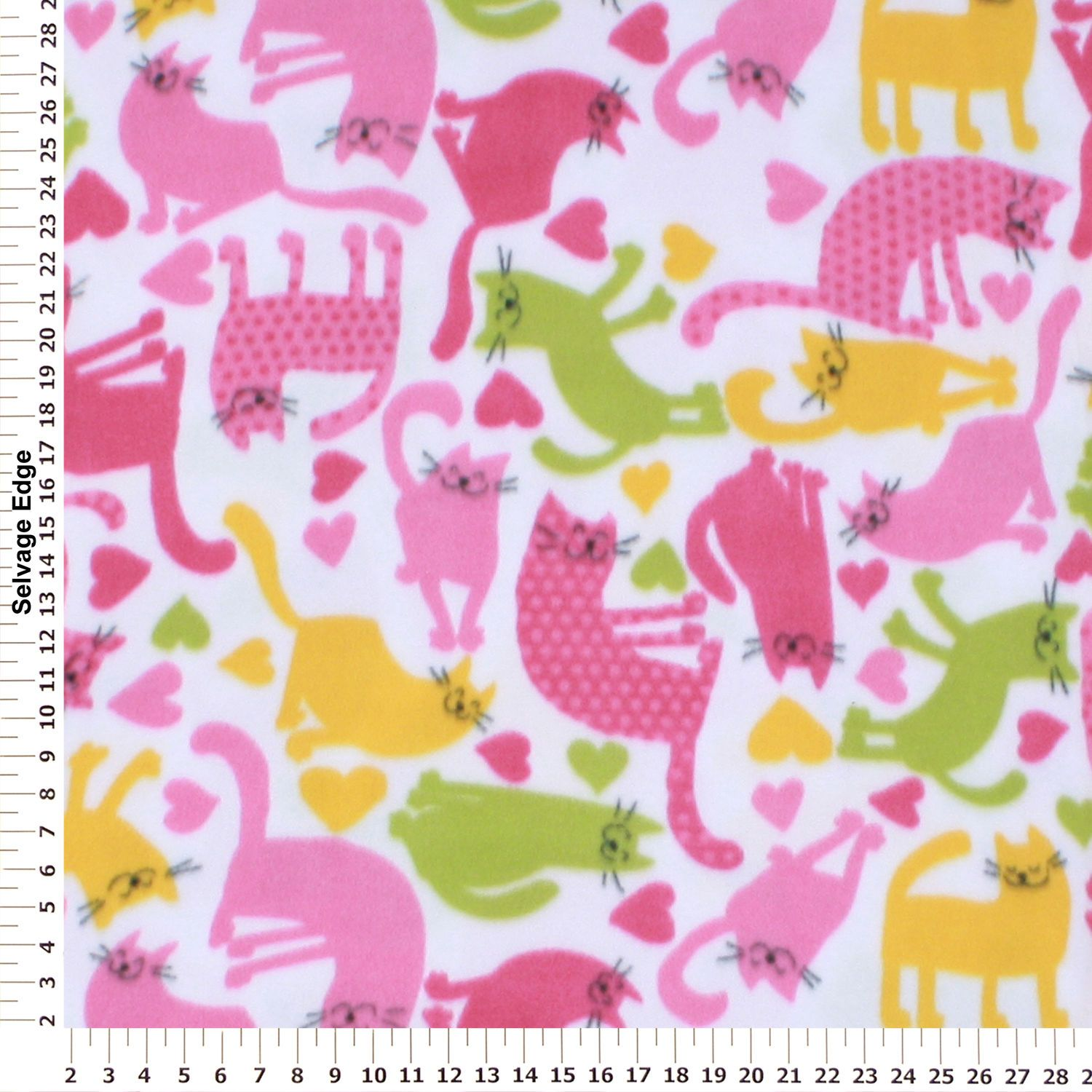 Retro cats on white fleece fabric fabric pinterest fabric