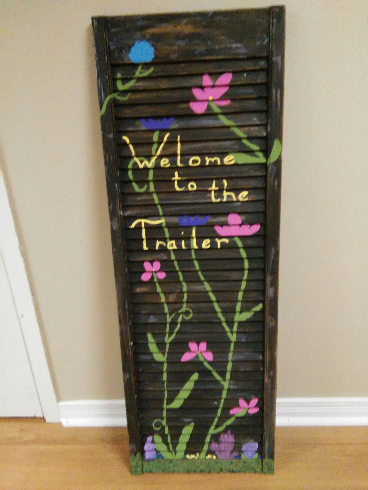 to the Trailer sign Ladder decor, Crafts, Decor