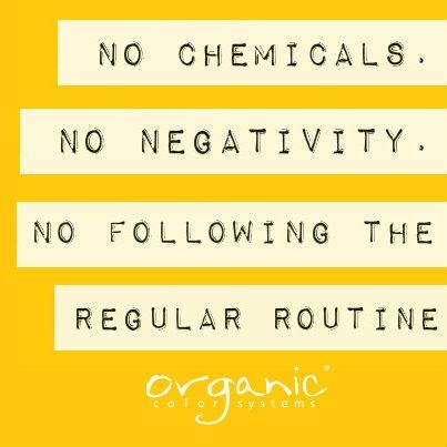 No Chemicals No Negativity No Following The Regular Routine
