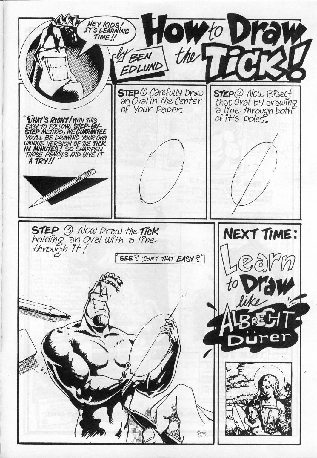 How To Draw The Tick Comic Book Art Pinterest Funny Drawings