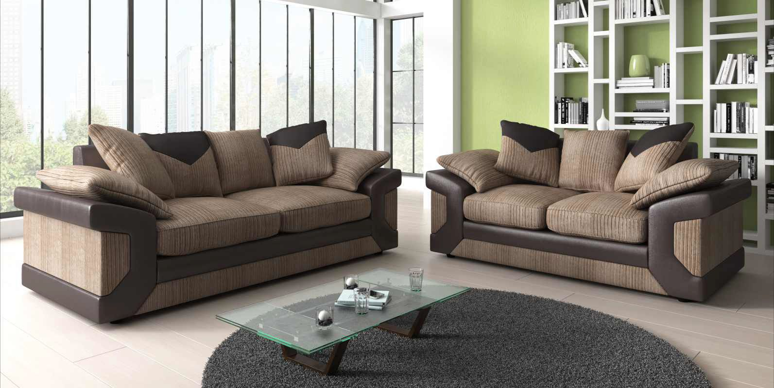 Look At Them Two D Elegant And Stylish Dino 3 2 Sofa Seater Set Available In Two Colour Combinations Grey With Black And Brown Furniture Sofa Sofa Set