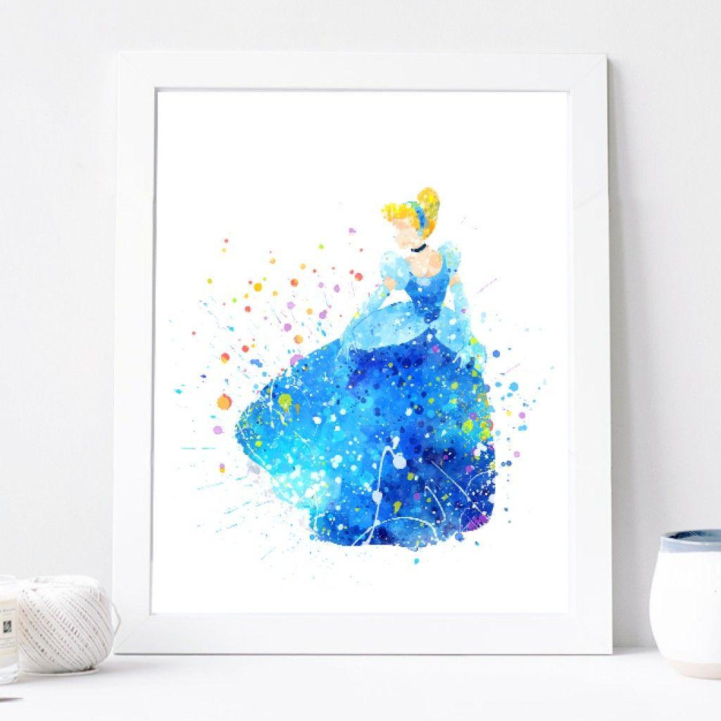 Princess Wall Decor | ... Art Print, Home Wall Decor Disney Princess Poster Printable Download