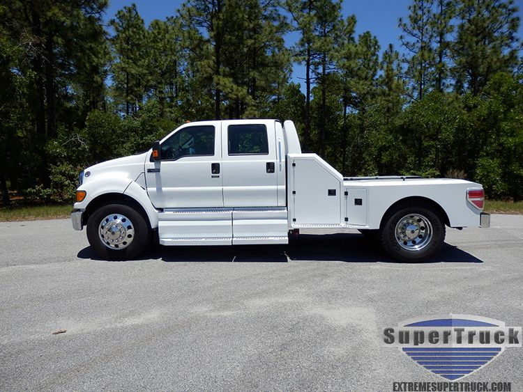 2013 Ford F650 Crew Cab Hauler With Images Ford Work Trucks
