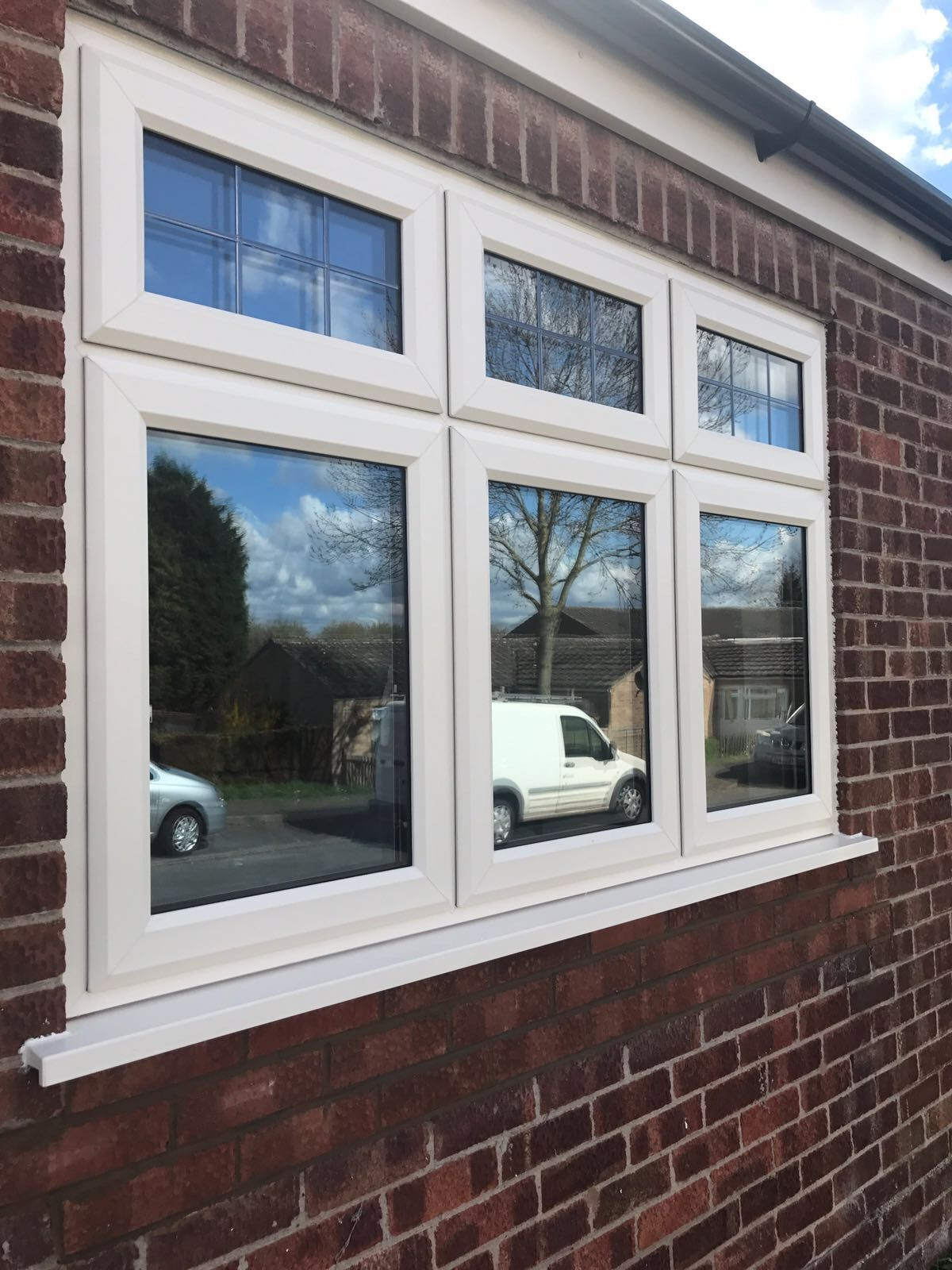 Cellular pvc window construction and technology - Cream Synseal Legend 70 Double Glazed A Rated Windows With Aged Square Lead Top