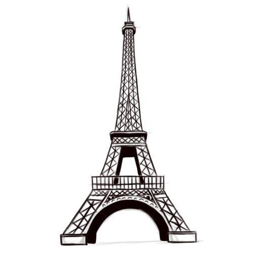Desenhar A Torre Eiffel Com Imagens Torre Eiffel Desenho