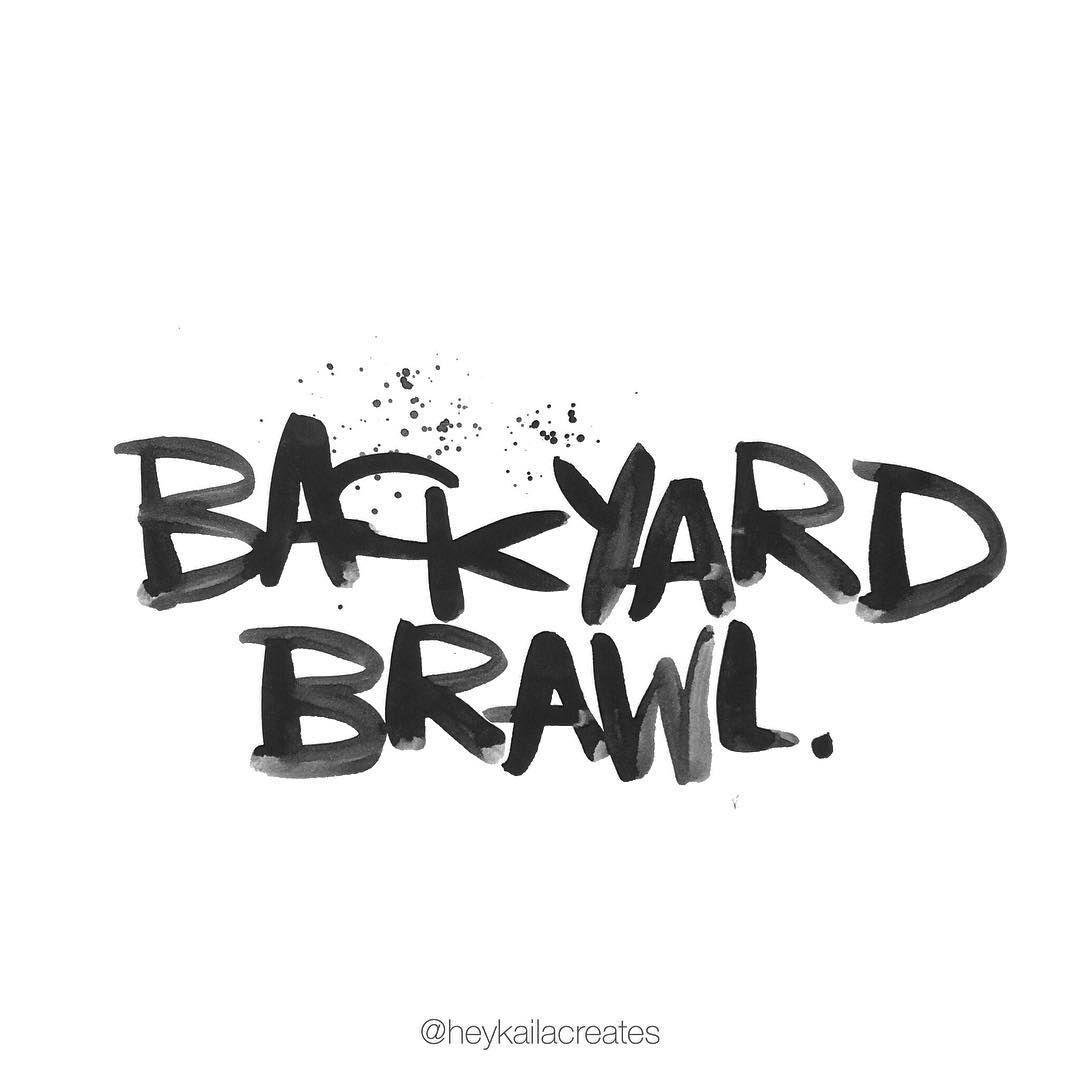 heykailacreates backyard brawl heykailaletters pinterest