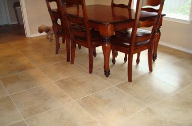 Tile Flooring In Dining Room Layout For Your Design Stunning Ideas The House Pinterest Wood Pedestal