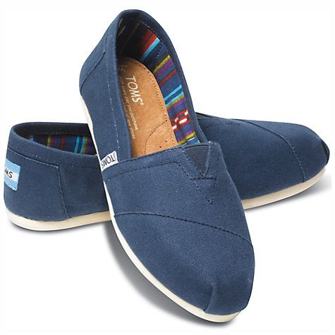 101c4ae9cff Buy TOMS Original Classic Canvas Plimsolls Online at johnlewis.com ...