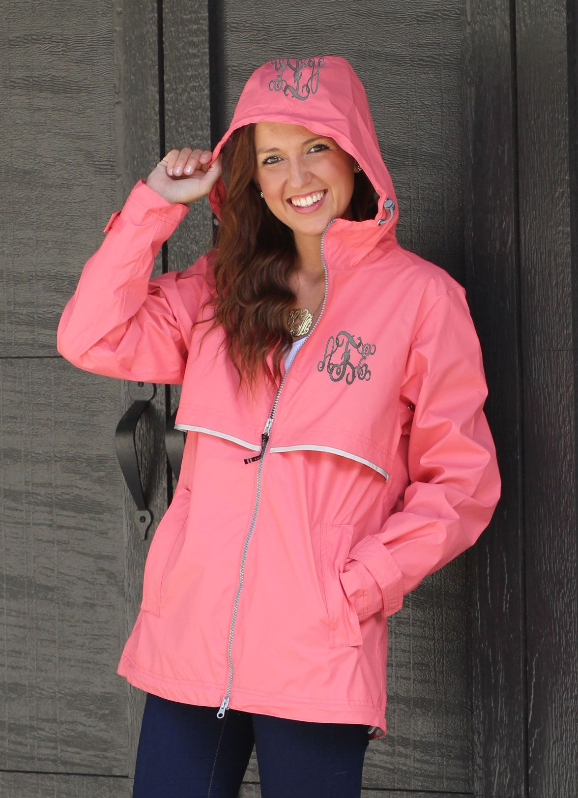 8cfbc73b3 Monogrammed New England Rain Jackets! Available in EIGHT colors on ...