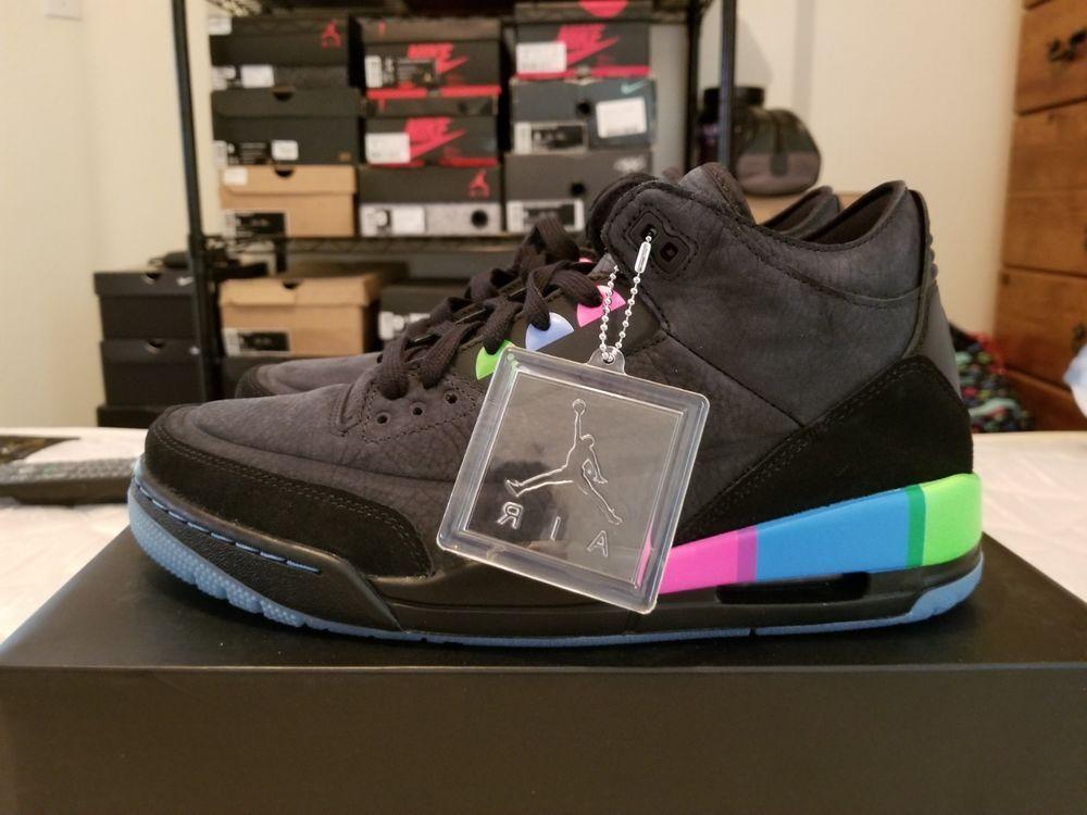 buy online 75232 82eab RARE Nike Air Jordan 3 III Retro SE Q54 Quai 54 IV Sample PE ...