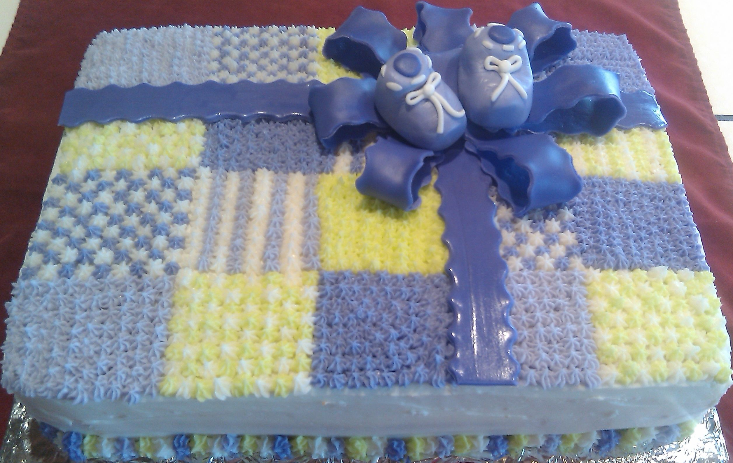 Cake Decorating Quilting Technique : Baby Shower quilt USD80.00 Cakes I ve Made! Pinterest ...
